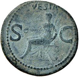 Caligola (37-41) Asse - R/ Vesta ...