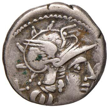 Anonime - Denario (143 a.C.) Testa ...