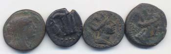FENICIA Lotto di quattro bronzetti ...