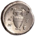 BEOZIA Tebe Statere (395-387 a.C.) Scudo - ...