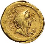 Cesare (+ 44 a.C.) Aureo ...