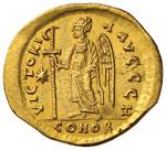 Anastasio (491-518) Solido - Busto coronato ...