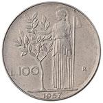 Repubblica Italiana - 100 Lire 1957 - Mont. ...