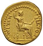 Tiberio (14-31) Aureo - Testa laureata a d. ...