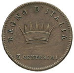 MILANO Napoleone (1805-1814) 3 Centesimi ...