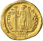 Ostrogoti Teodorico (495-526) Solido a nome ...
