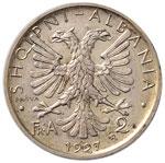ALBANIA Zog (1925-1939) 2 Franca 1927 Prova ...