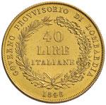 MILANO Governo provvisorio (1848) 40 Lire ...