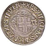 SAVOIA Carlo I (1482-1490) Testone sigla GG ...