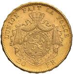 BELGIO Leopoldo II (1865-1909) 20 Franchi ...