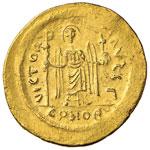 Focas (602-610) Solido - Busto coronato di ...