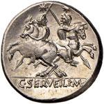 Servilia - C. Servilius M. f. - Denario (136 ...