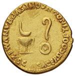 Nerone (54-68) Aureo - Busto a s. - R/ ...