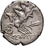 Cloulia - T. Cloulius - Denario (128 a.C.) ...