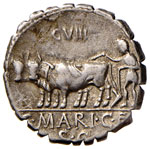 Maria - C. Marius C. f. Capito - Denario (81 ...