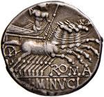 Minucia - L. Minucius - Denario (133 a.C.) ...