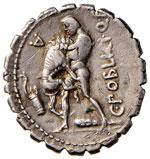 Poblicia - C. Poblicius Q. f. - Denario (80 ...