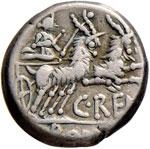 Renia - C. Renius - Denario (138 a.C.) Testa ...