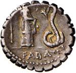 Roscia - L. Roscius Fabatus - Denario (64 ...