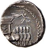 Rubria - L. Rubrius Dossenus - Denario (87 ...