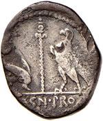 Pompeo Magno - Denario (49 a.C.) Busto di ...