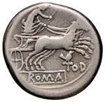 Anonime - Denario (189-180 a.C.) Testa di ...