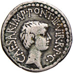 Antonio e Ottaviano - Denario (41 a.C.) ...