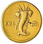 Domiziano (81-96) Aureo – Testa laureata a ...