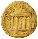 Vespasiano (69-79) Aureo – Testa laureata ...
