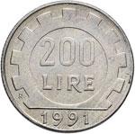 Repubblica italiana (1946-) Errori 200 Lire ...