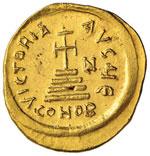 Eraclio (610-641) Solido – Busto elmato di ...