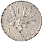 Repubblica italiana (1946-) 10 Lire 1947 – ...