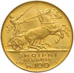 ALBANIA Zog (1928-1939) 100 Franca 1926 Due ...