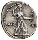 Augusto (27 a.C.-14 d.C.) Denario (Lugdunum) ...