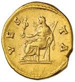 ROMA IMPERO Sabina (moglie di Adriano) Aureo ...