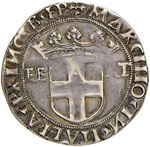 SAVOIA Carlo II (1504-1553) Testone ottavo ...