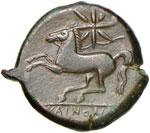 SICILIA Kainon - AE (circa 340 a.C.) Grifone ...