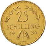 AUSTRIA Repubblica (1918-) 25 Scellini 1934 ...