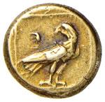 LESBO Mitilene  Sesto di statere (circa 330 ...