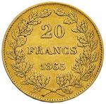 BELGIO Leopoldo I (1831-1865) 20 Franchi ...