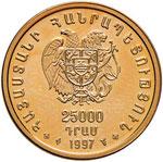 ARMENIA 25.000 Dram 1997 – Fr. 1 AU (g ...