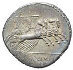 Licinia - Denario (90-79 a.C.) Busto di ...