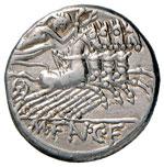 Fannia - M. Fannius C. f. - Denario (123 ...