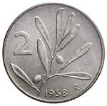 REPUBBLICA ITALIANA 2 Lire 1958 – IT RR ...