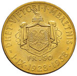 ALBANIA Zog (1925-1939) 50 Franga 1938 I IX ...