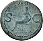 Caligola (37-41) Asse - R/ Vesta seduta a s. ...