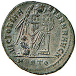 Massenzio (307-312) Mezzo follis (Ostia) R/ ...