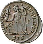 Licinio (308-324) Follis (Siscia) Testa ...