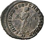 Galerio (305-310) Follis (Cartagine) R/ ...