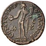 Galerio (305-311) Follis (Alexandria) Testa ...